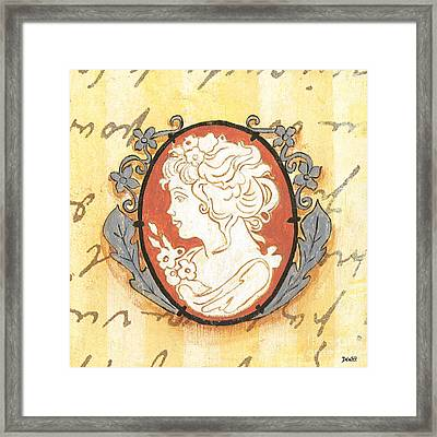 French Cameo 2 Framed Print by Debbie DeWitt