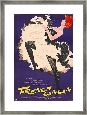 French Cancan, Polish Poster, 1954 Framed Print by Everett