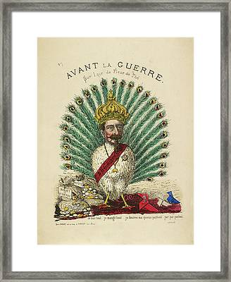 French Caricature - Avant La Guerre Framed Print by British Library