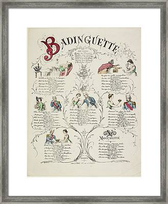 French Caricature - Badinguette Framed Print by British Library