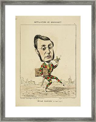 French Caricature - Emile Ollivier Framed Print by British Library