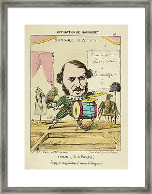 French Caricature - Fialin Framed Print