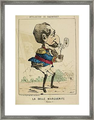 French Caricature - La Belle Marguerite Framed Print by British Library