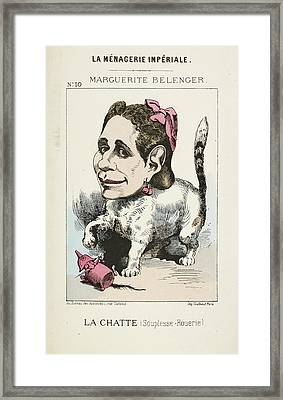 French Caricature - La Chatte Framed Print by British Library