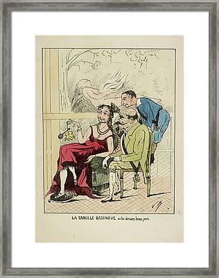French Caricature - La Famille Badingue Framed Print