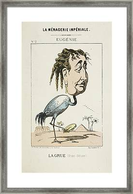 French Caricature - La Grue Framed Print by British Library