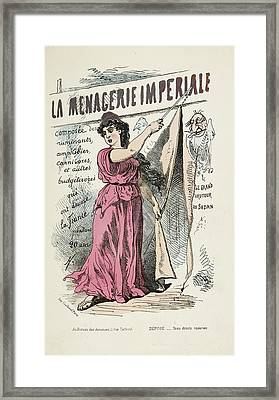 French Caricature- La Menagerie Imperiale Framed Print by British Library