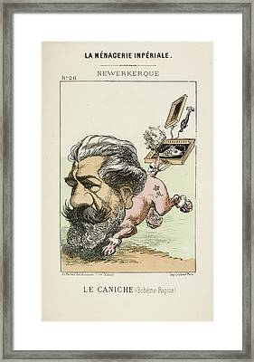 French Caricature - Le Caniche Framed Print by British Library
