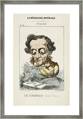 French Caricature - Le Crapaud Framed Print by British Library