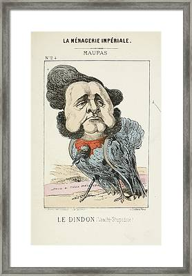 French Caricature - Le Dindon Framed Print