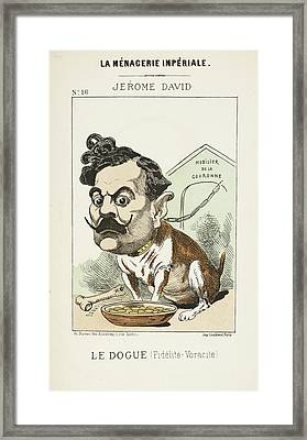 French Caricature - Le Dougue Framed Print by British Library
