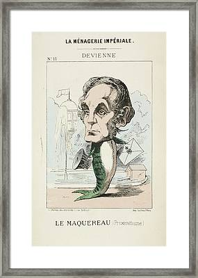 French Caricature - Le Maquereau Framed Print by British Library