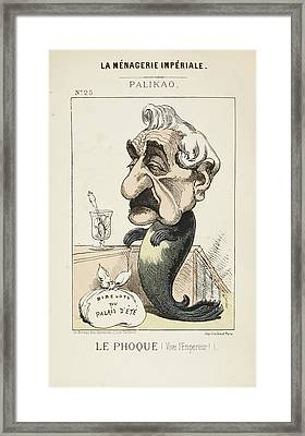 French Caricature - Le Phoque Framed Print by British Library