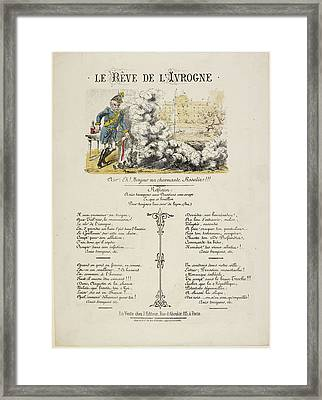 French Caricature - Le Reve De L'ivrogne Framed Print by British Library