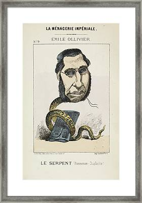French Caricature - Le Serpent Framed Print by British Library