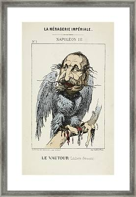 French Caricature - Le Vautour Framed Print by British Library