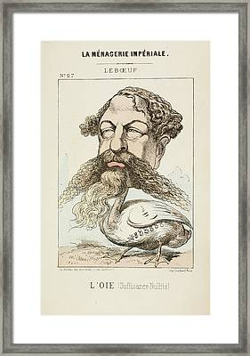 French Caricature - L'oie Framed Print by British Library
