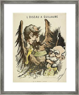 French Caricature - L'oiseau A Guillaume Framed Print by British Library
