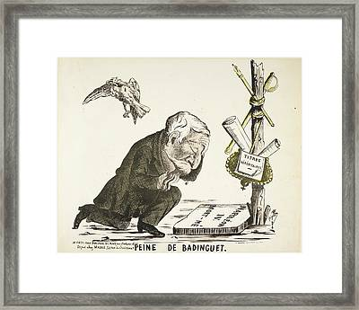 French Caricature - Peine De Badinguet Framed Print by British Library