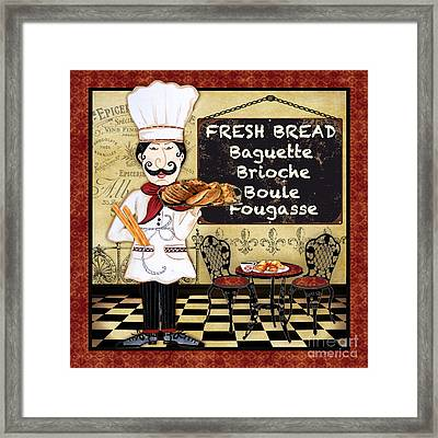 French Chef-a Framed Print by Jean Plout