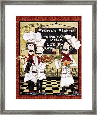 French Chefs-bistro Framed Print