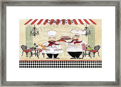 French Chefs-jp2250b Framed Print by Jean Plout