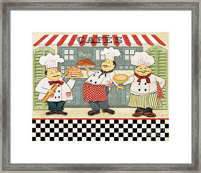 French Chefs-jp2280 Framed Print by Jean Plout