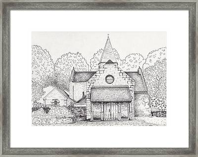 French Church Framed Print by Michelle Welles