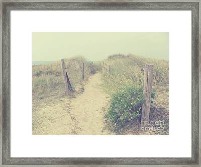 French Coast Beach Framed Print
