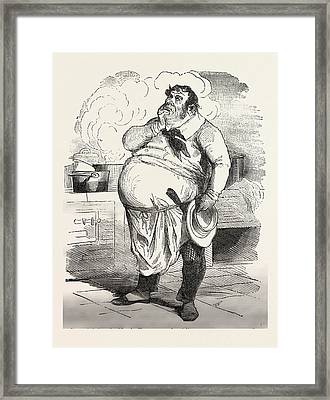 French Cook Thinking About A New Sauce, Europe Framed Print by French School