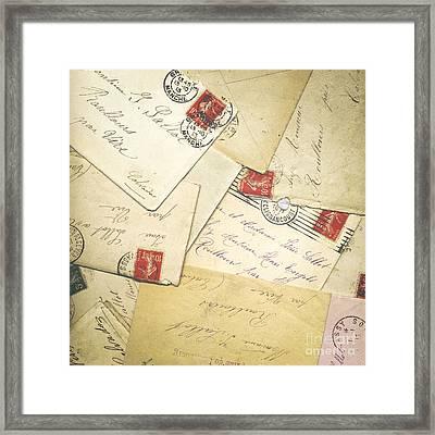 French Correspondence From Ww1 #1 Framed Print by Jan Bickerton