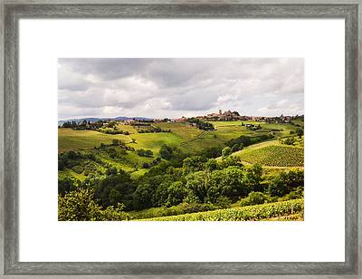 Framed Print featuring the photograph French Countryside by Allen Sheffield