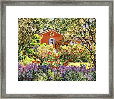 French Countryside House Framed Print by David Lloyd Glover