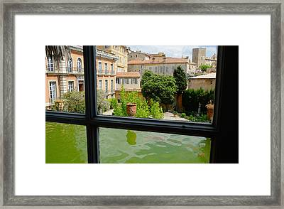 French Courtyard Framed Print
