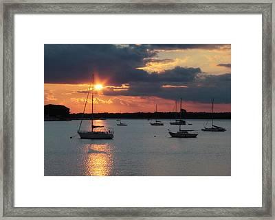 French Creek Bay Sunset Framed Print