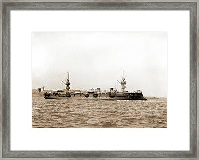 French Cruiser Jean Bart, Jean Bart Cruiser Framed Print by Litz Collection