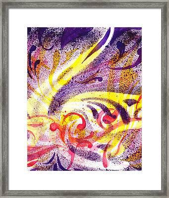 French Curve Abstract Movement I Framed Print by Irina Sztukowski