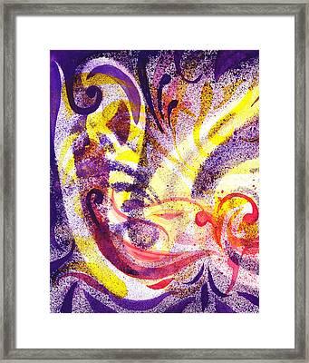 French Curve Abstract Movement II Framed Print by Irina Sztukowski