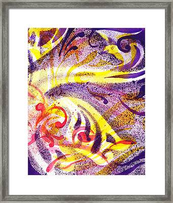 French Curve Abstract Movement Iv Framed Print by Irina Sztukowski
