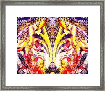 French Curve Abstract Movement Vi Mystic Flower Framed Print by Irina Sztukowski