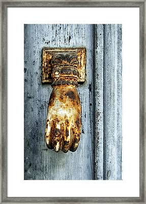 French Door Knocker Framed Print by Georgia Fowler
