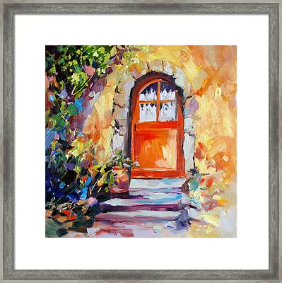 French Door Framed Print by Rae Andrews