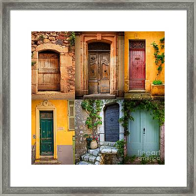 French Doors Framed Print