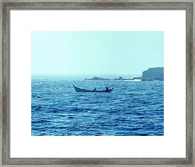 French Dory Fishermen Framed Print by George Cousins