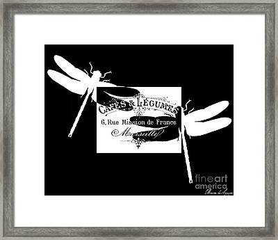 French Dragonflies 1 Framed Print