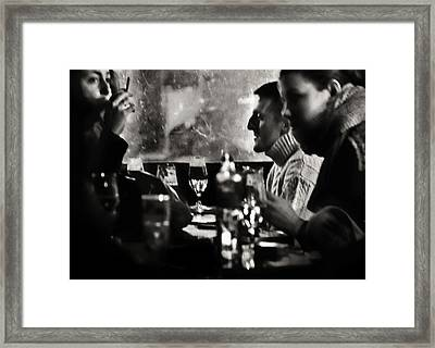French Drinks Framed Print by Michel Verhoef
