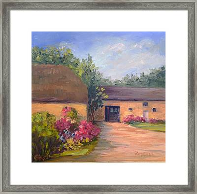 French Farmhouse   Loire Valley Framed Print by Vikki Bouffard