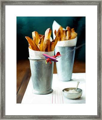 French Fries Fly-by Framed Print by Snake Jagger