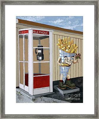 French Fry Guy Framed Print by Jennifer  Donald