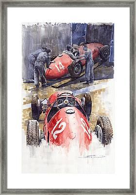 French Gp 1952 Ferrari 500 F2 Framed Print by Yuriy  Shevchuk